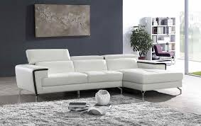 Ital Leather Sofa Italian Leather Sectional In White With Decorative Luxurious