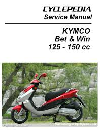 bet u0026 win 125 and 150 service manual printed by cyclepedia