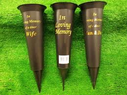 graveside flowers in loving memory grave vase for flowers with spike plantwise