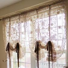 Fold Up Curtains Tie Up Valance Foter