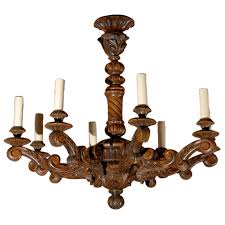 Off White Chandelier Large French Baroque Carved And Off White Painted Wooden