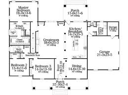 simple house plans 4 bedrooms single story modern open floor