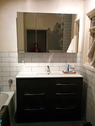 diy bathroom remodel husband wife weeks the completed renovation