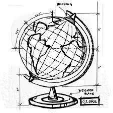 tim holtz wood mounted stamp world sketch v1 2626