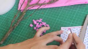 diy how to make miniature cherry blossom tree youtube