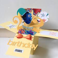 happy 22 birthday handmade pop up card in dory theme design