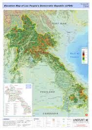 World Elevation Map by Elevation Map Of Lao People S Democratic Republic Lpdr Unitar