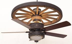 western ceiling fans with lights copper canyon cheyenne wagon wheel ceiling fan