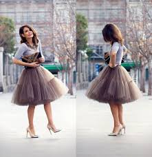 where to buy tulle buy plain simple fashion tulle skirt black brown knee