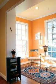dining room with orange walls pittsburgh paints u0027