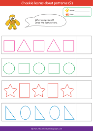 patterns in kindergarten free worksheets pattern worksheets kindergarten pdf free math