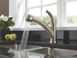 kitchen faucet delta delta 467 ss dst palo single handle pull out kitchen faucet