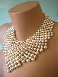pearl bib statement necklace images Pearl statement necklace the great gatsby bridal bib art deco jpg