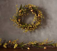 tulip wreath forsythia tulip wreath pottery barn