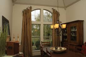 Drapes Dallas Austin Arched Window Treatments Bedroom Mediterranean With Sheers