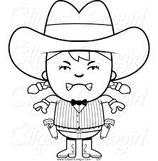 royalty free coloring pages to print stock cowgirl designs