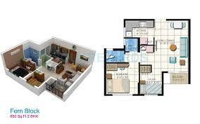650 Square Feet Floor Plan 1 Bhk 650 Sq Ft Apartment For Sale In Embassy Residency At Rs