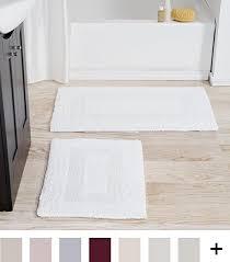 Cotton Reversible Bathroom Rug Cotton Bath Mat Set 2 100 Percent Cotton Mats