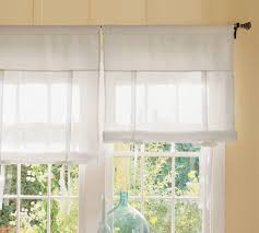 Tie Up Valance Curtains Curtains Thumbprinted