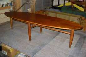 Surfboard Coffee Table Dallas And Fort Worth Mid Century Modern Mersman Surfboard Coffee