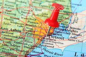 map usa detroit detroit map michigan usa stock photo istock