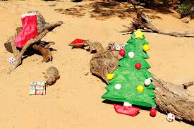 Taronga Zoo Christmas Party - tiger cubs and other cute animals opening presents at taronga zoo