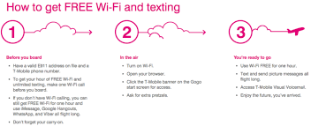 t mobile free inflight wifi free hour of gogo wi fi on every flight for t mobile customers
