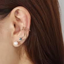 cartilage cuff earrings pearl ear cuff earrings pearl cartilage earrings