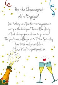 pop the champagne free engagement party invitation template