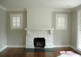 white fireplace with pale taupe walls u003d nice light neutral color