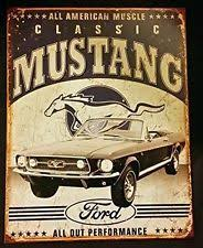 ford mustang metal wall ford cave home décor plaques signs ebay