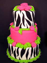 pink and green zebra print beautiful pink decoration