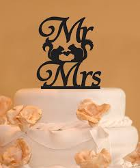squirrels mr and mrs wedding cake topper mr and mrs