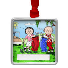 couples golf ornaments keepsake ornaments zazzle