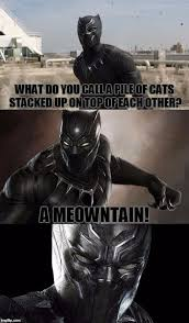 Funny Panthers Memes - bad pun black panther i just saw civil war too great movie