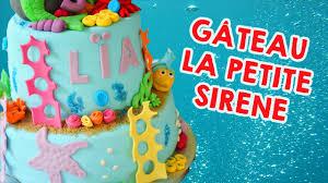 decoration cupcake anniversaire gâteau la petite sirène cake design youtube