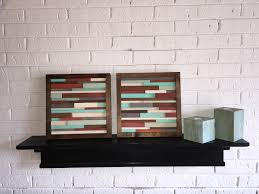 wood wall art reclaimed wood art modern abstract wall art