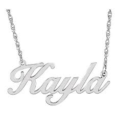 Personalized Sterling Silver Necklace Personalized Sterling Silver Script Nameplate Pendant Necklace