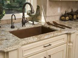Kitchen Sinks With Backsplash Decorating Brass Faucet And Sink With Tile Backsplash Also Cosmos