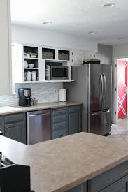 Two Colour Kitchen Cabinets Remodelaholic Grey And White Kitchen Makeover