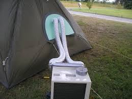 air conditioned tent put an a c boot into any tent easily with this kit it s not cheap