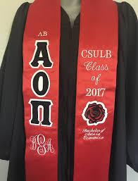 graduation stole custom alpha omicron pi graduation stole design custom sorority