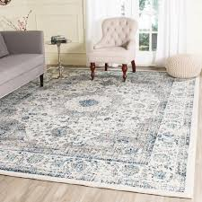Area Rugs 6 X 10 Safavieh Evoke Silver Ivory 10 Ft X 14 Ft Area Rug Evk256s 10