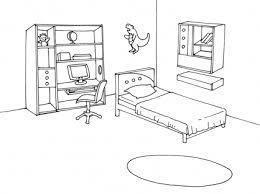 coloriage de chambre de fille dessin de chambre gascity for
