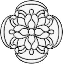 printable stained glass window free coloring pages on art