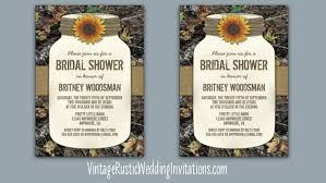 jar bridal shower invitations camo bridal shower invitations vintage rustic wedding invitations