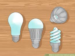 21 inch under cabinet light bulb how to install under cabinet lighting with pictures wikihow