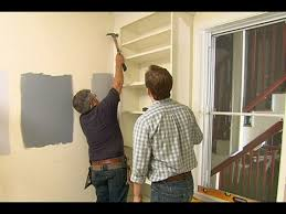 how to paint built in bookshelves how to build a custom built in using stock shelving youtube
