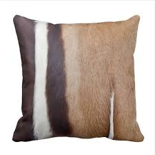Leather Cowhide Fabric 142 Leather Cowhide Brown Black White Fabric Throw Pillow Case In