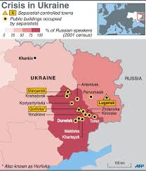 Map Ukraine Presenting Russian East Ukraine These Are The Cities Controlled